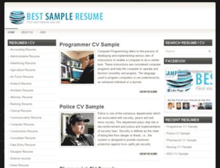 bestsampleresume.pk screenshot