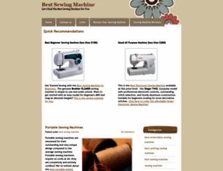 bestsewingmachine.net screenshot