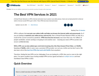 bestvpnservice.com screenshot