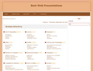 bestwebpresentations.com screenshot