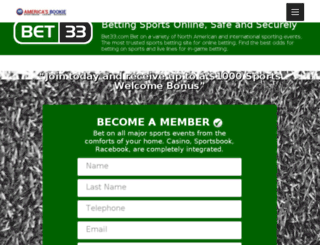 bet33.com screenshot