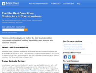 beta.hometowndemolitioncontractors.com screenshot