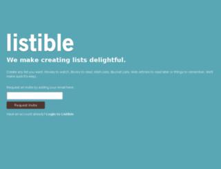 beta.listible.com screenshot