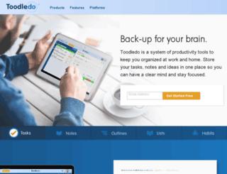 beta.toodledo.com screenshot