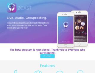 beta.zcast.co screenshot
