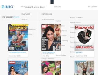 beta.zinio.com screenshot