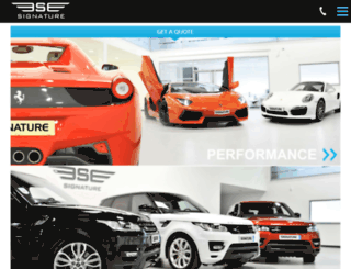 betamobile.signaturecarhire.com screenshot