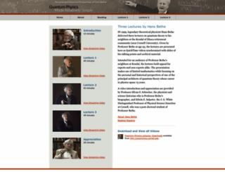 bethe.cornell.edu screenshot
