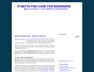 bettafishcareforbegginers.blogspot.com screenshot