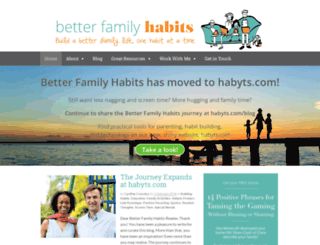 betterfamilyhabits.com screenshot