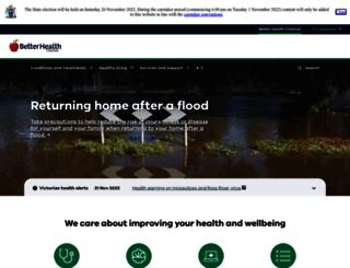 betterhealth.vic.gov.au screenshot