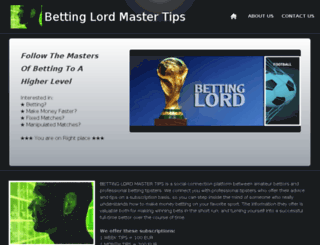 bettinglord.webs.com screenshot