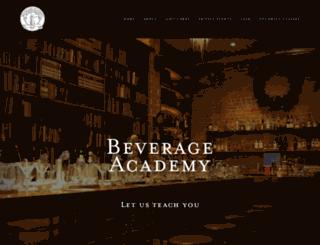 beverageacademy.com screenshot