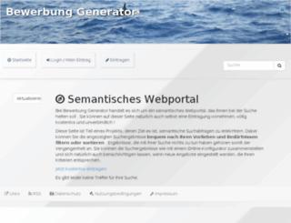 bewerbung generatorcom screenshot - Generator Bewerbung