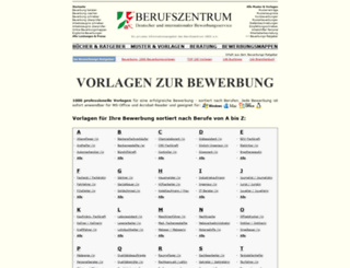 bewerbung-vorlagen.de screenshot