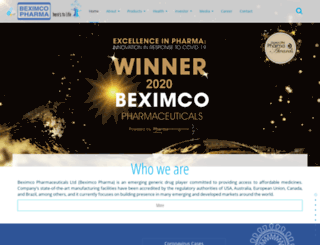 beximco-pharma.com screenshot