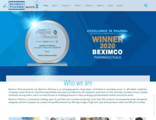 beximcopharma.com screenshot