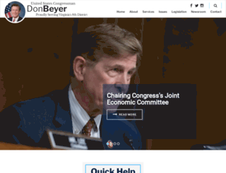 beyer.house.gov screenshot