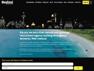 beyondrecruitment.co.nz screenshot