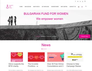 bgfundforwomen.org screenshot