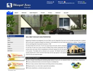 bhagatsonsproperties.com screenshot