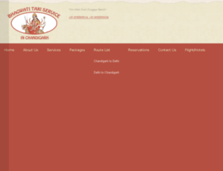bhagwatitaxiservices.info screenshot