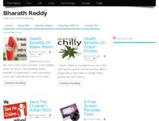bharathreddy.info screenshot