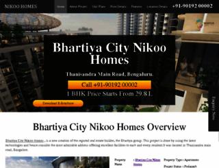 bhartiyacity-nikoohomes.co.in screenshot