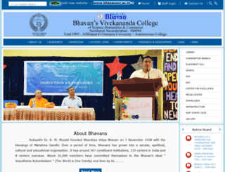bhavansvc.org screenshot