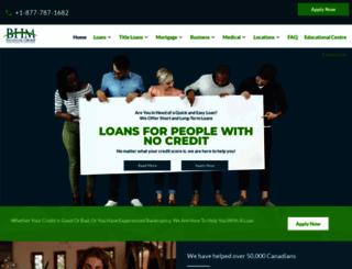 bhmfinancial.com screenshot