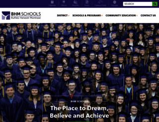 bhmschools.org screenshot