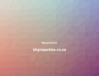 bhproperties.co.za screenshot
