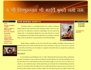 bhrigusamhita.co.in screenshot
