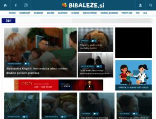 bibaleze.si screenshot