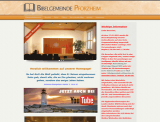 bibelgemeinde-pforzheim.de screenshot