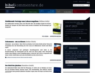 bibelkommentare.de screenshot