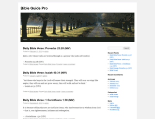 bibleguidepro.com screenshot
