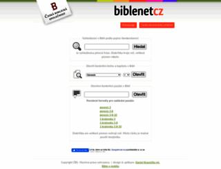 biblenet.cz screenshot