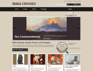 bibleodyssey.com screenshot
