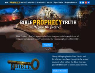 bibleprophecytruth.com screenshot