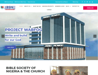 biblesociety-nigeria.org screenshot
