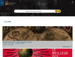 bibliotheque.bordeaux.fr screenshot