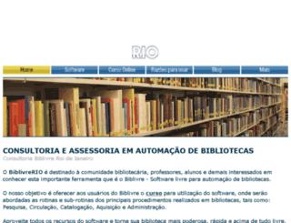 biblivre-rio.com screenshot