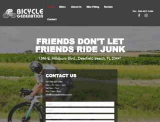 bicyclegeneration.com screenshot