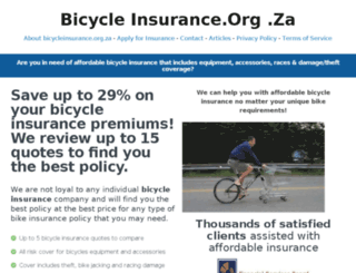 bicycleinsurance.org.za screenshot