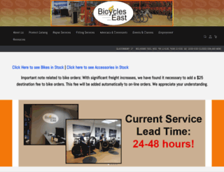 bicycleseast.com screenshot