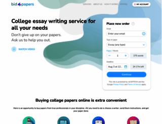 bid4papers.com screenshot