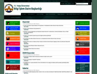 bidb.trakya.edu.tr screenshot