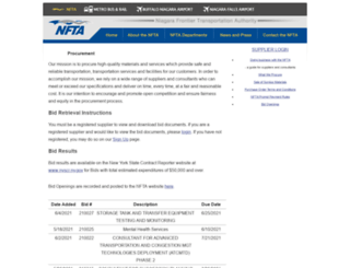bids.nfta.com screenshot