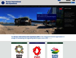 bie-paris.org screenshot